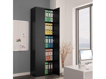 Armoire de bureau Noir 60 x 32 x 190 cm Aggloméré - vidaXL