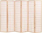 Cloison de séparation 6 panneaux Style japon 240x170 cm Naturel - vidaXL