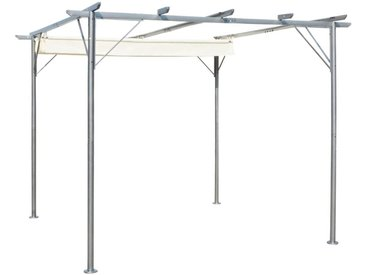Pergola avec toit réglable 3 x 3 m Acier Blanc crème  - vidaXL