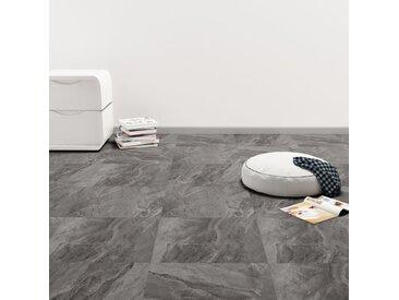 Planche de plancher PVC autoadhésif 5,11 m² Noir avec motif - vidaXL