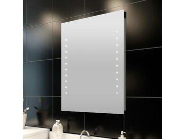 Miroir de salle de bain avec lumières LED 60 x 80 cm (L x H) - vidaXL