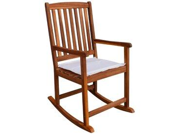 Chaise à bascule d'extérieur Bois d'acacia - vidaXL