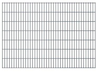 Panneaux de clôture de jardin 2D 2,008x1,43 m 4 m total Gris - vidaXL