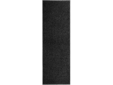 Paillasson lavable Noir 60x180 cm - vidaXL