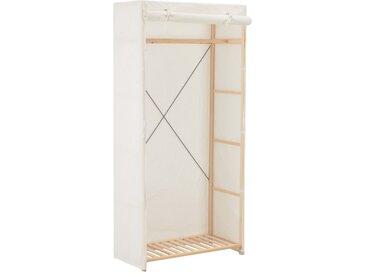 Garde-robe Blanc 79 x 40 x 170 cm Tissu - vidaXL