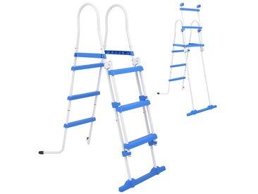Échelle de sécurité pour piscine hors-sol avec 3 marches 107 cm - vidaXL