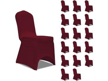 Housses élastiques de chaise Bordeaux 18 pcs - vidaXL