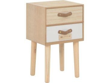 Table de chevet avec 2 tiroirs 30x25x49,5 cm Bois de pin massif - vidaXL