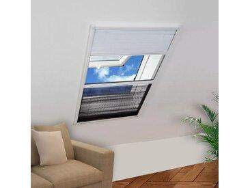 Moustiquaire plissée pour fenêtre et store Aluminium 80 x 120cm  - vidaXL