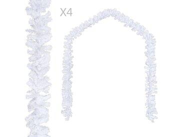 Guirlandes de Noël 4 pcs Blanc 270 cm PVC - vidaXL