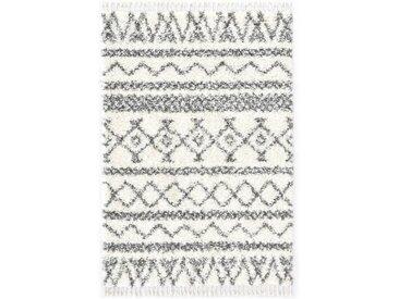 Tapis berbère PP Beige et gris 160x230 cm - vidaXL