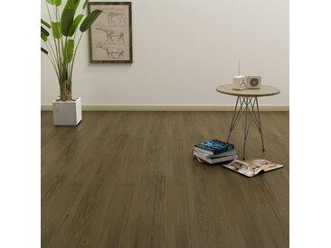 Planches de plancher autoadhésives 4,46 m² PVC Marron  - vidaXL