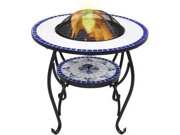 Table de foyer mosaïque Bleu et blanc 68 cm Céramique - vidaXL