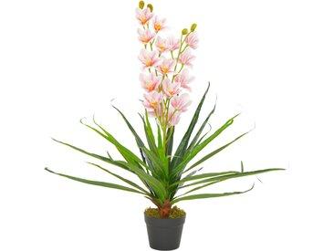 Plante artificielle avec pot Orchidée Rose 90 cm - vidaXL