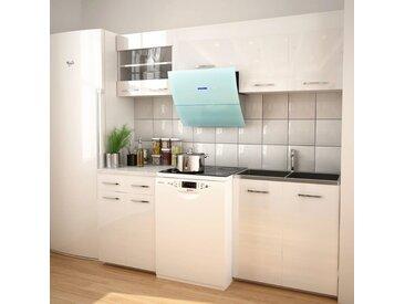 Armoires de cuisine 5 pcs avec hotte Blanc brillant - vidaXL