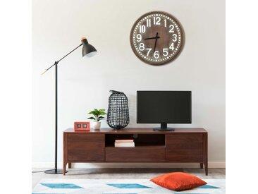 Horloge murale Marron 60 cm MDF - vidaXL