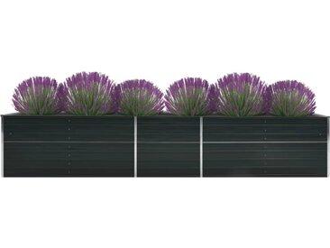 Lit surélevé de jardin Acier galvanisé 400x80x77 cm Anthracite - vidaXL