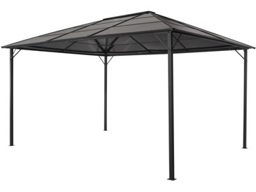 Tonnelle avec toit Aluminium 4x3x2,6 m Noir - vidaXL
