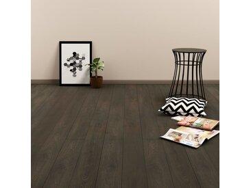 Plancher à enclenchement 3,51 m² 4 mm PVC Marron foncé - vidaXL