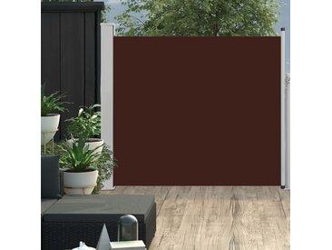 Auvent latéral rétractable de patio 100x300 cm Marron - vidaXL