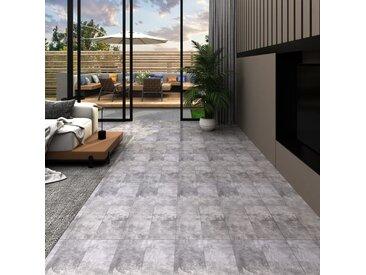 Planches de plancher PVC 4,46 m² 3 mm Autoadhésif Marron ciment - vidaXL