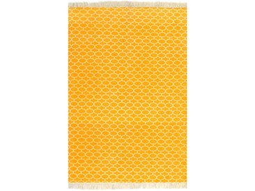 Tapis Kilim Coton 160 x 230 cm avec motif Jaune - vidaXL