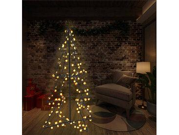 Arbre de Noël cône 160 LED d'intérieur/d'extérieur 78x120 cm - vidaXL