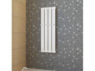 Porte-serviette 311mm + Radiateur panneau blanc 311mm x 900mm - vidaXL