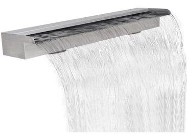 Lame d'eau rectangulaire pour piscine en acier inoxydable 150 cm - vidaXL