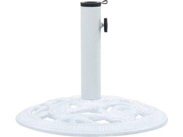 Socle de parasol Blanc 9 kg 40 cm Fonte - vidaXL