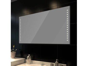 Miroir de salle de bain avec lumières LED 100 x 60 cm (L x H) - vidaXL