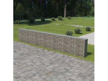 Mur à gabion avec couvercles Acier galvanisé 600 x 30 x 100 cm - vidaXL