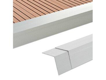 Cornière de terrasse 5 pcs Aluminium 170 cm Argenté - vidaXL