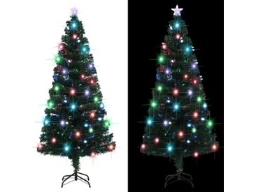 Arbre de Noël artificiel et support/LED 180 cm 220 branches - vidaXL