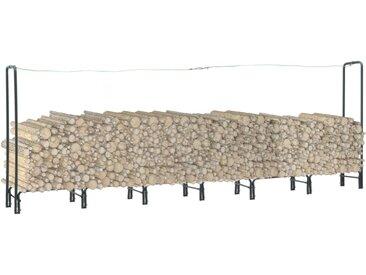 Portant de bois de chauffage Anthracite 360x35x120 cm Acier - vidaXL