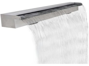 Lame d'eau rectangulaire pour piscine en acier inoxydable 120 cm - vidaXL