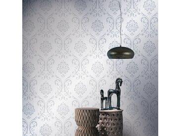 Rouleaux de papier peint Non tissé 2pcs Blanc 0,53x10m Ornement - vidaXL