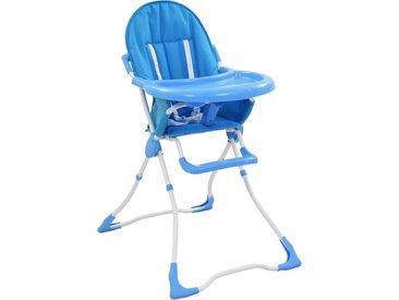 Chaise haute pour bébé Bleu et blanc  - vidaXL