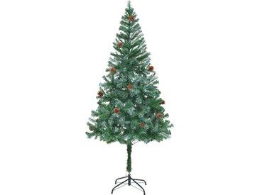 Arbre de Noël artificiel avec pommes de pin 180 cm - vidaXL