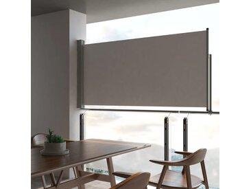 Auvent latéral rétractable de patio 120 x 300 cm Gris - vidaXL