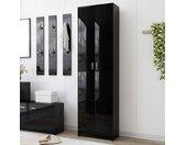 Garde-robe de couloir Noir brillant 55x25x189 cm Aggloméré - vidaXL