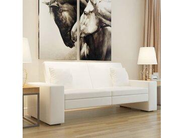 Canapé-lit Cuir artificiel Blanc - vidaXL