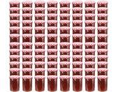 Pots à confiture Couvercle blanc et rouge 96 pcs Verre 400 ml - vidaXL