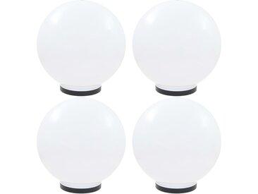Lampes à LED sous forme de boule 4 pcs Sphérique 40 cm PMMA  - vidaXL