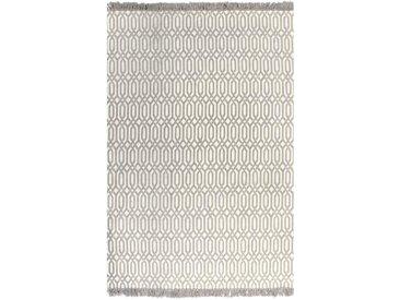 Tapis Kilim Coton 160 x 230 cm avec motif Taupe - vidaXL