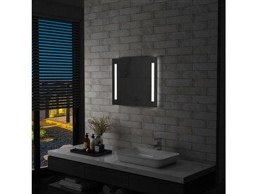 Miroir mural à LED pour salle de bains 60 x 50 cm - vidaXL