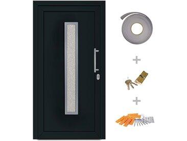 Porte d'entrée principale Anthracite 88x200 cm - vidaXL