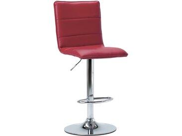 Chaise de bar Rouge bordeaux Similicuir - vidaXL