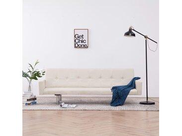 Canapé-lit avec accoudoir Crème Polyester - vidaXL