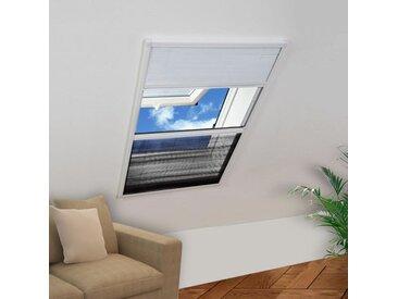 Moustiquaire plissée pour fenêtre 160 x 80 cm avec store occultant - vidaXL
